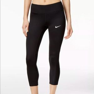 Nike  Women's Power Black Running Crop Tights S